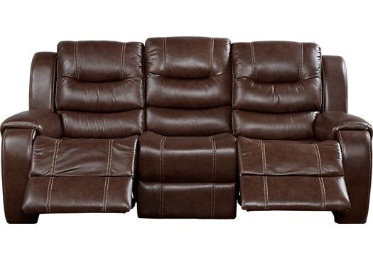 Best Picture Of Veneto Brown Leather Reclining Sofa From 640 x 480