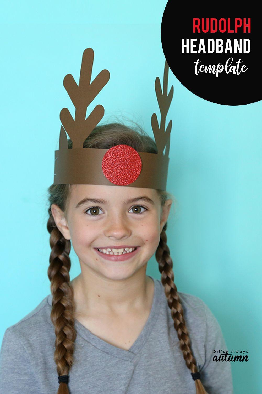 Santa Elf Reindeer Headbands Easy Christmas Craft For Kids
