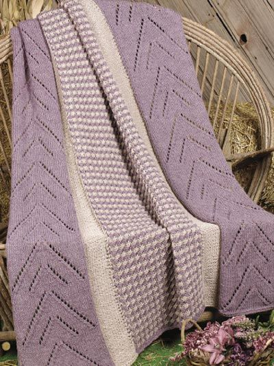 Panels In Plum Afghan Free Knitting Pattern Of The Day From