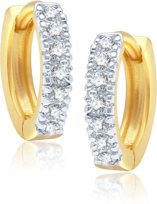 Vk Jewels Rhodium Plated Br Alloy Hoop Earring Price In India