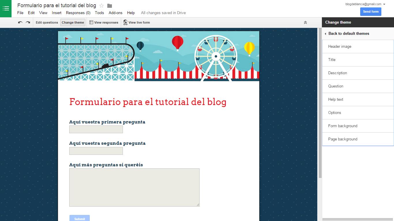 Blog Con Consejos Y Trucos Para Blogueras Cómo Personalizar Un Formulario De Google Docs Formularios Google Google Docs Consejos Y Trucos