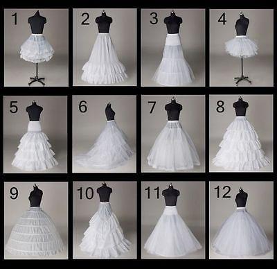 12 Estilos Wedding Bridal vestido de barrido / Tren Petticoat / Aro / Falda Corta / Crinolina