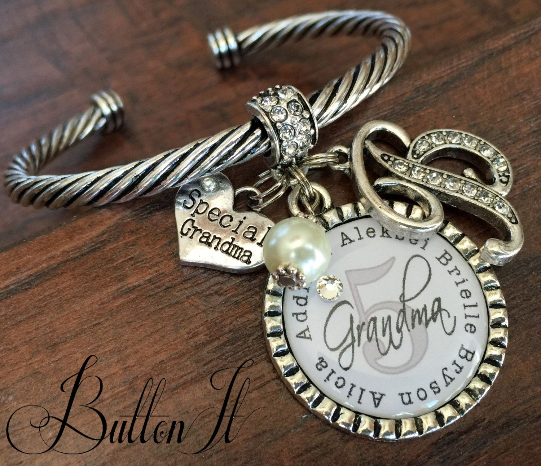 Grandma jewelry GRANDMA bracelet Personalized bracelet Mother s
