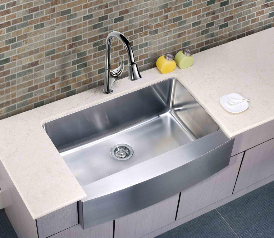 Dawn 33 Stainless Steel Single Bowl Farmhouse Apron Sink