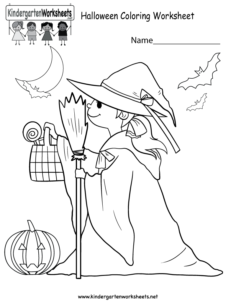 Kids can color a cute witch and other Halloween related images in ...