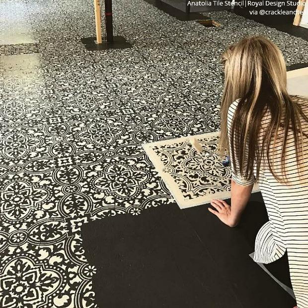Painted Tile Floor Stencils That Anyone Can Do Tile Stencil