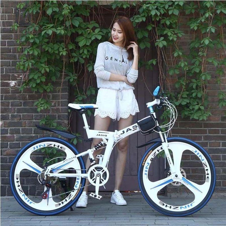Jasiq 26 Inch Mountain Bike 21 Speed Folding Mountain Bicycle