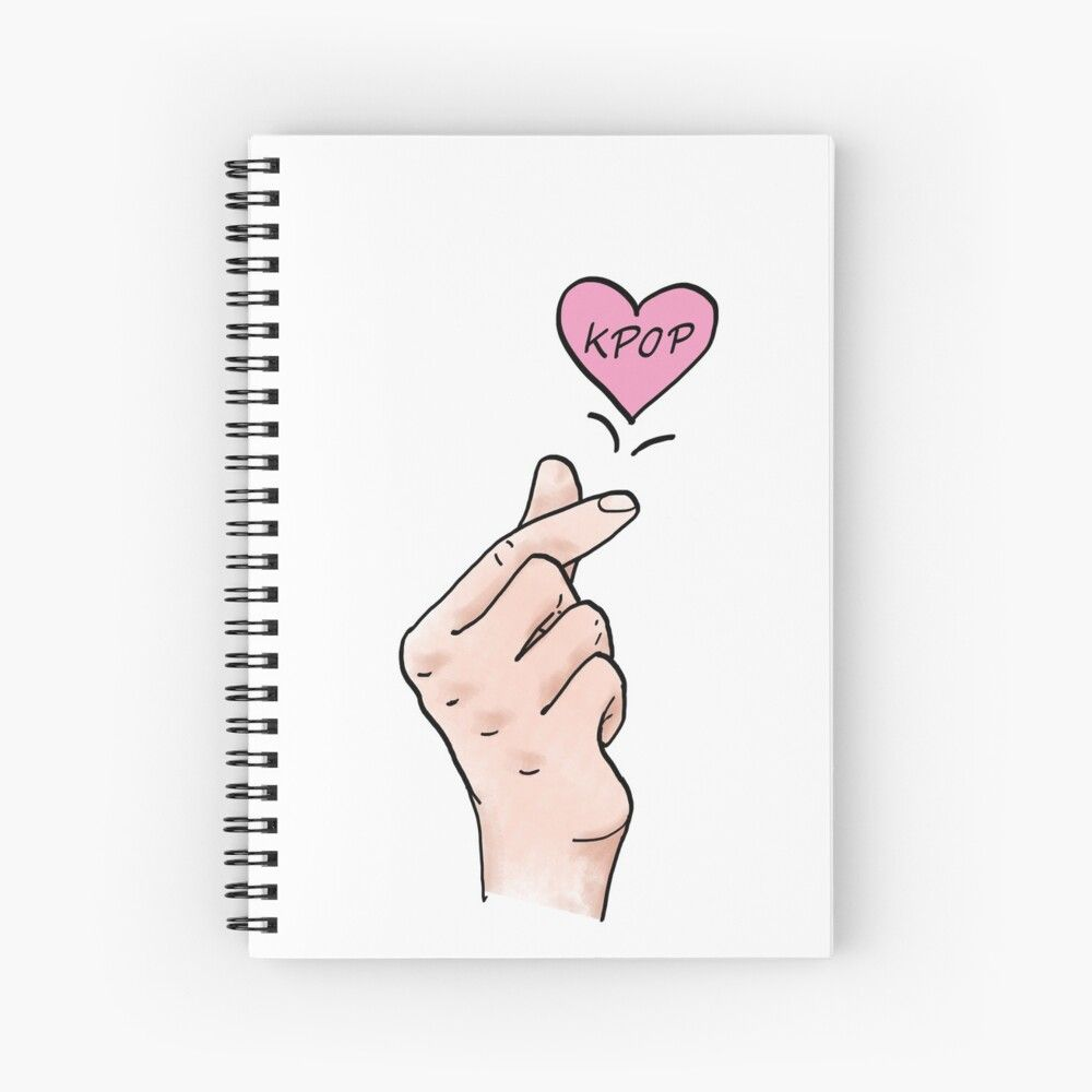 I Heart Kpop Kpop Finger Heart Digital Painted Finger Hearts For All Kpop Lovers Spiral Notebook By Multifandomfan