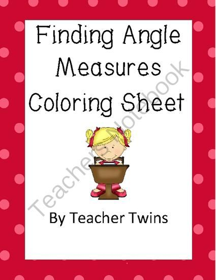 Finding Angle Measures CCS 8.G.A.5 from Teacher Twins on TeachersNotebook.com -  (5 pages)  - Student find measures of missing angles using angle s…
