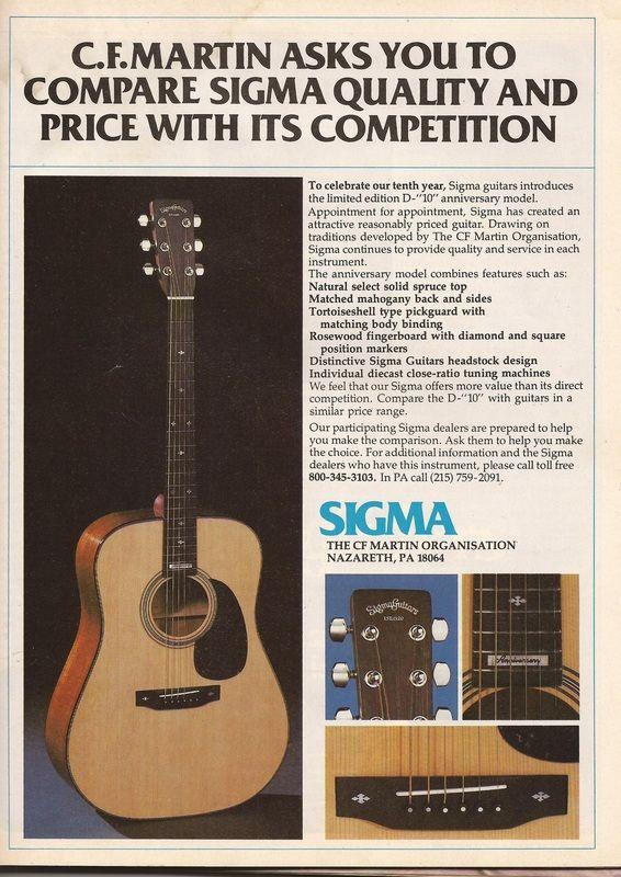 Vintage Sigma Guitar Ads Nos Sigma Martin Guitars Com Guitar Martin Guitar Martin Acoustic Guitar