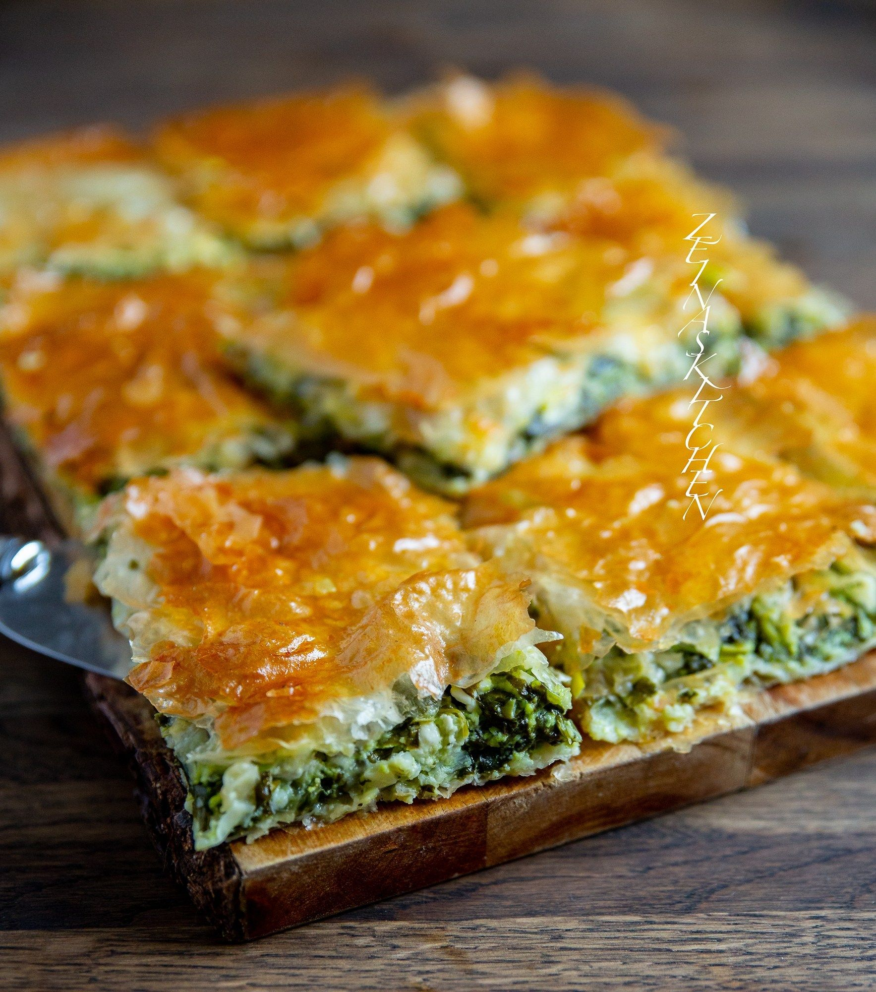 Photo of Philo dough pie with spinach and feta cheese – ZEINAS KITCHEN