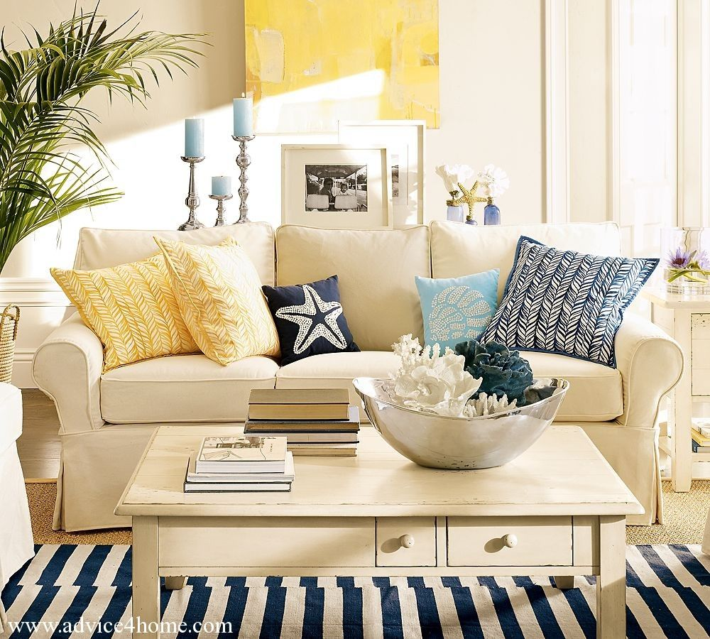 Advise from the ocean sea sand theme living room for home and