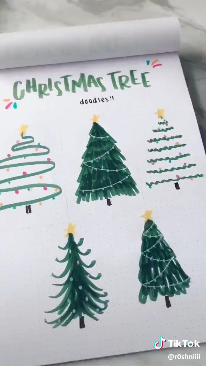 CHRISTMAS TREE DOODLES