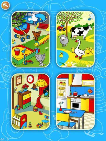 Baby Learns Simple Objects koster 7 kr. Man kan høre ordene for de forskellige ting, der er på de 4 billeder under Learn. Under Play siger drengen en ting, som man skal trykke på. Den er godt til at øve ordforråd efter i begynderundervisningen.