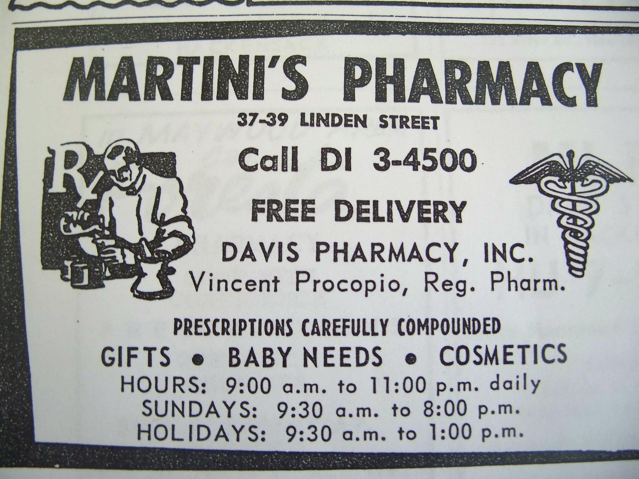 Martini's Pharmacy 37-39 Linden Street