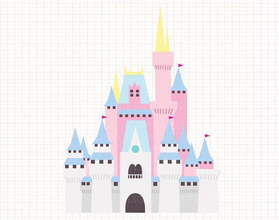Disney Inspired Cinderella's Castle Digital CLIP ARTS by Digicute