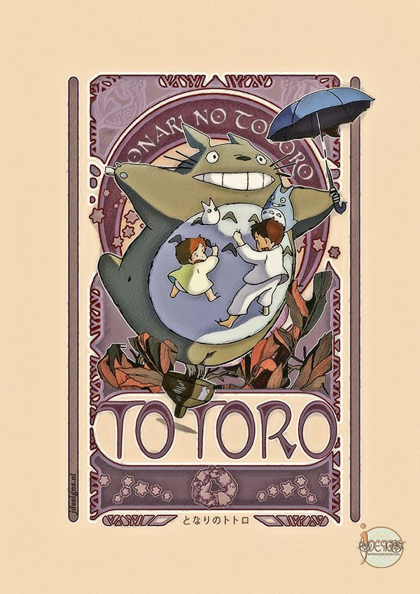 My Neighbor Totoro - Art Nouveau by jdesigns79 on deviantART