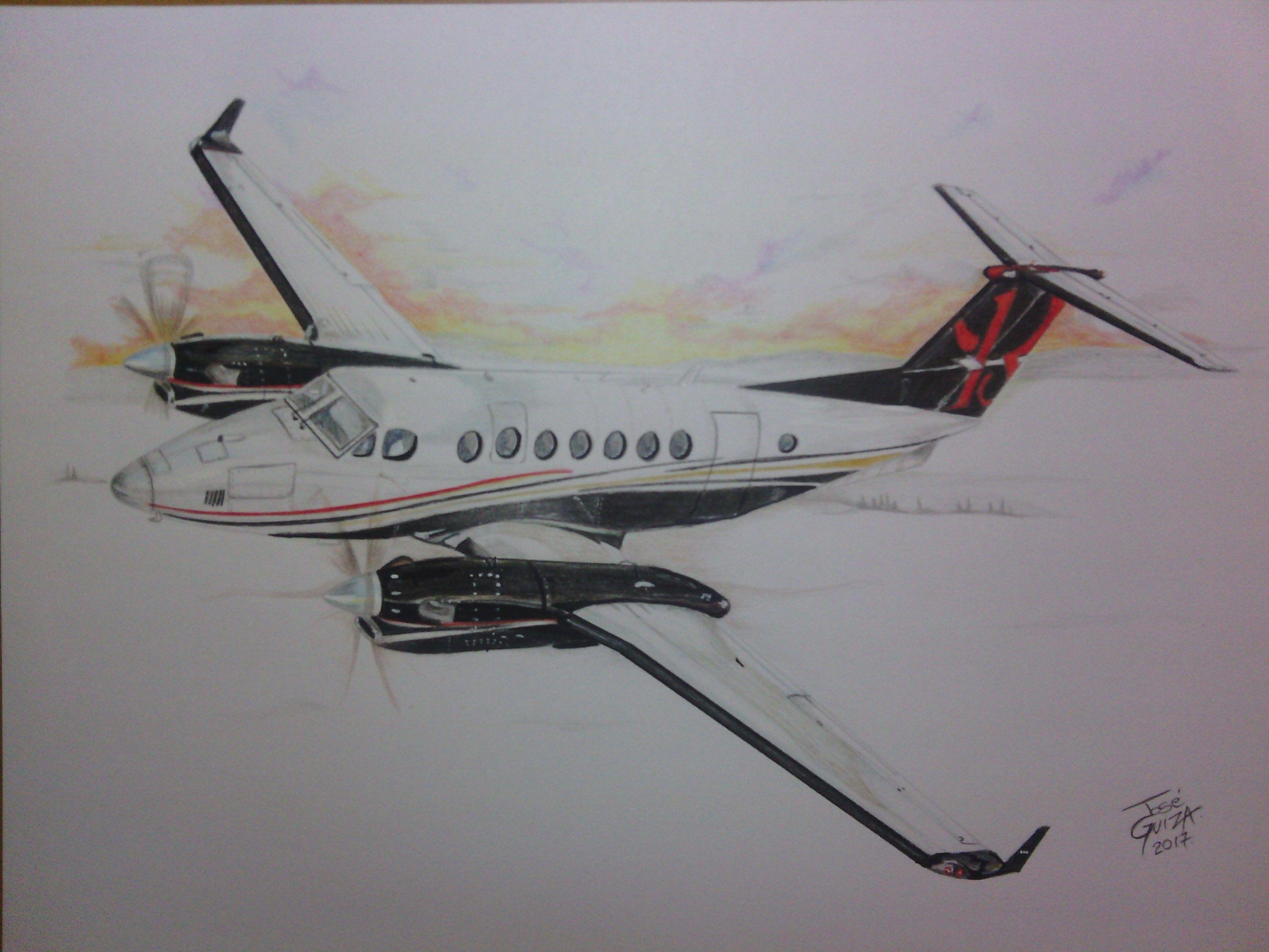 Dibujo Avion Lapiz De Color Aviones Lapices De Colores Avion Dibujos