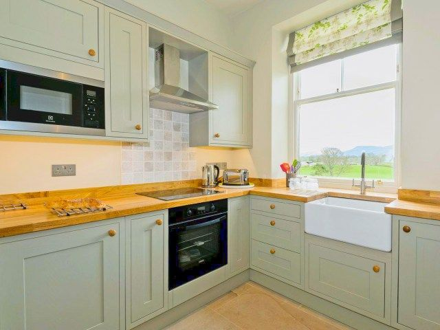 The Gatehouse Cottage Sage Green Country Kitchen