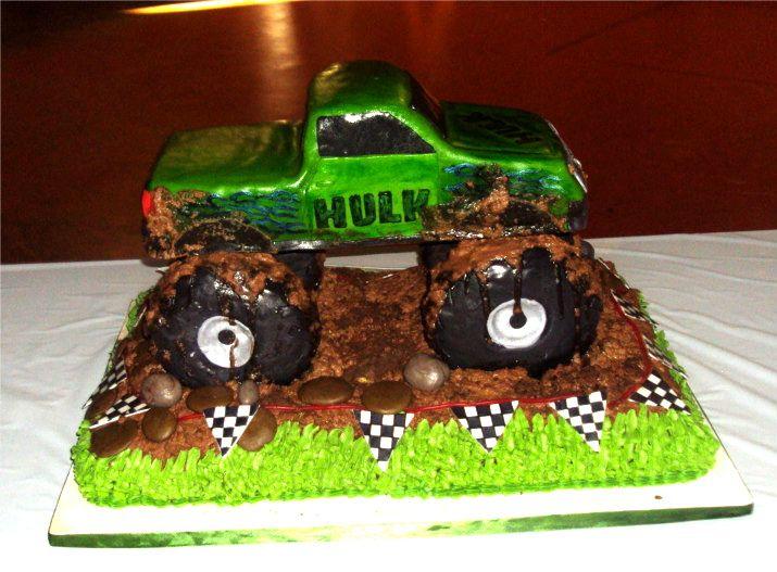 monster jam birthday party  cake