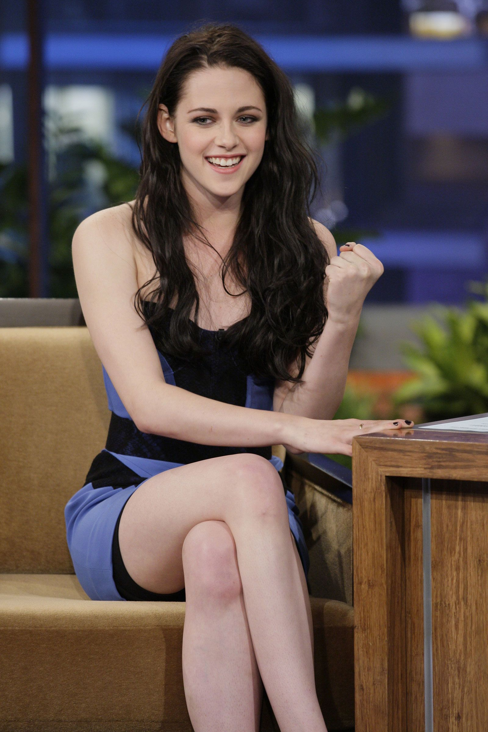 Kristen stewart at the tonight show with jay leno for The stewarts