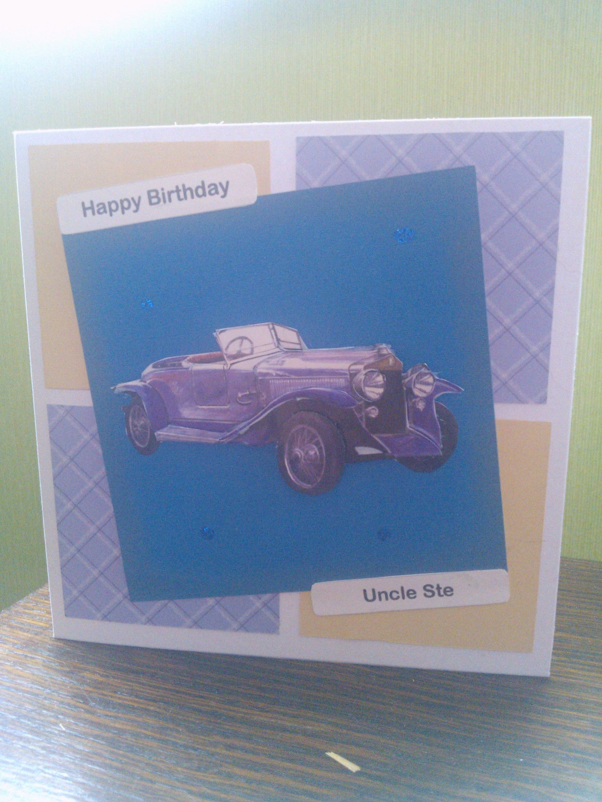 Birthday Card For A Car Lover