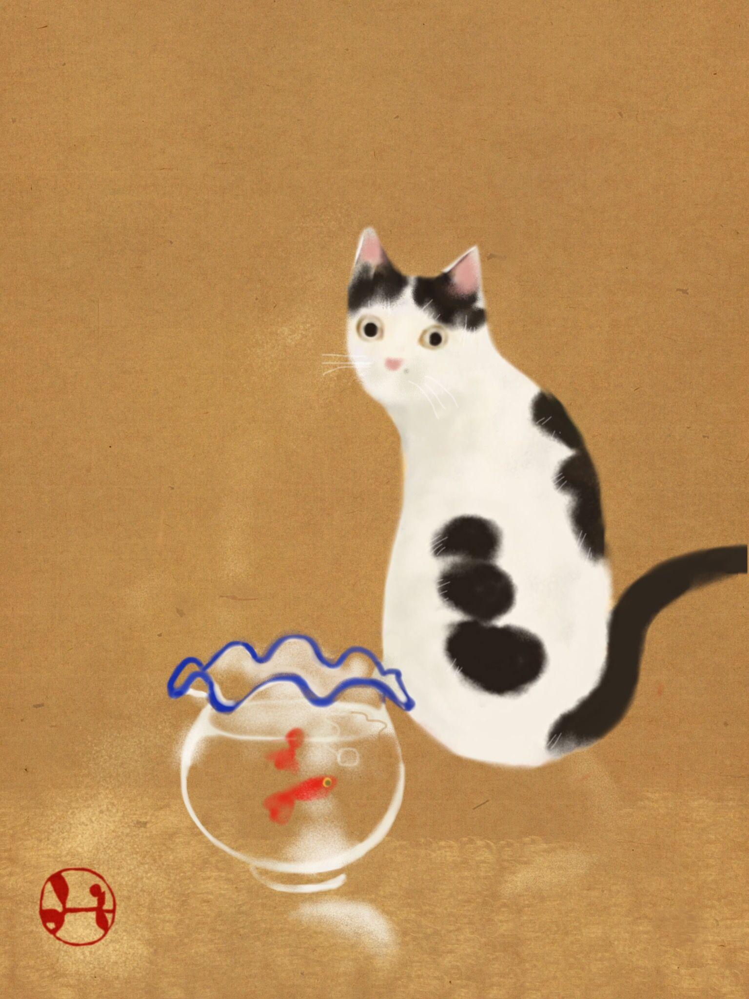 hidetoshi mito _ cat drawing」おしゃれまとめの人気アイデア