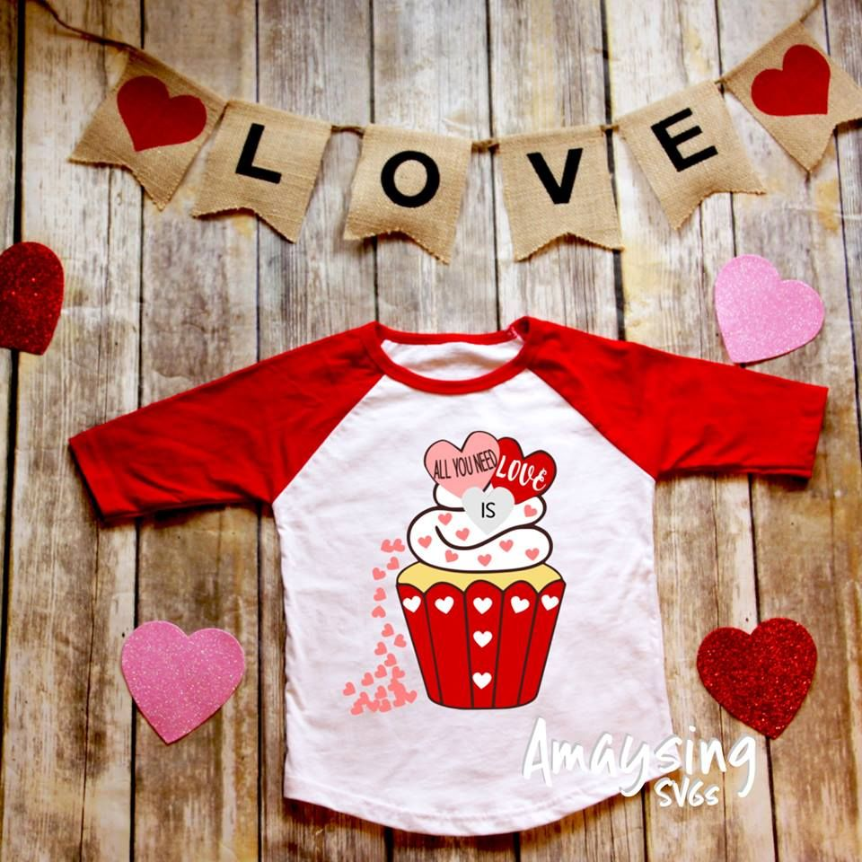 Download all_you_need_is_love_cupcake uploaded T shirt project ...