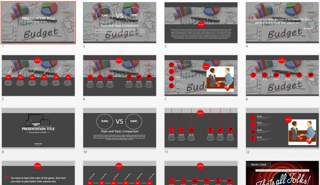 budget powerpoint templatesagefox | themed powerpoint, Presentation templates
