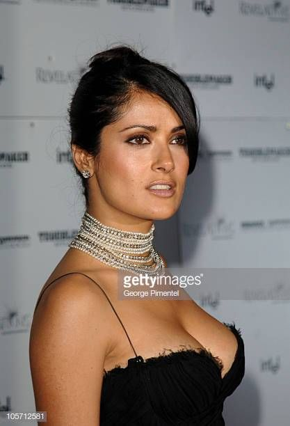 Photo of Salma Hayek during the Cannes Film Festival 2005 & # 39; Sin City & # 39; After Party in Palm Beac …