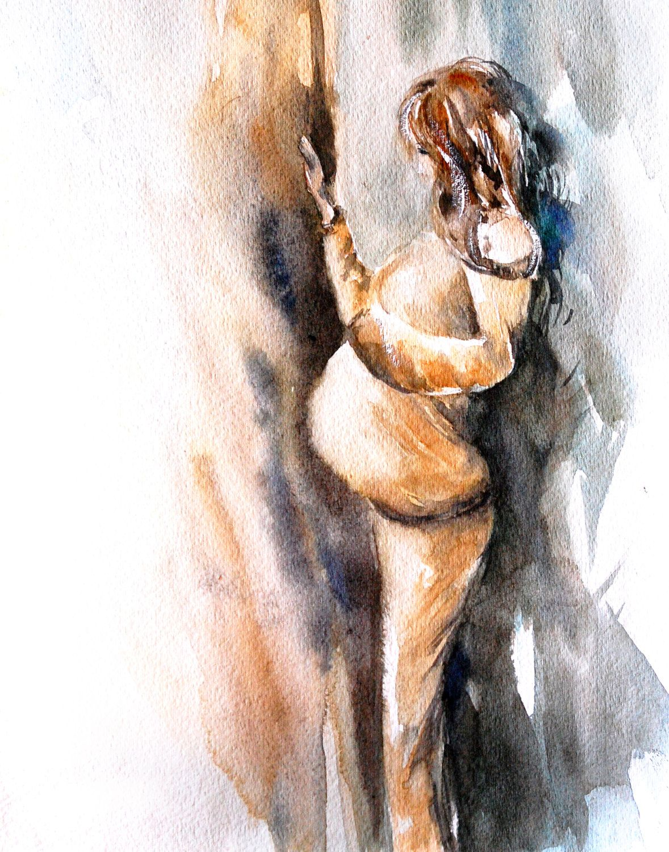 Maternity Fine Art Print Pregnant Woman Near The Window