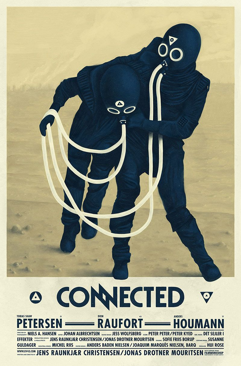 """Poster by Barq for the short movie """"Connected"""" - 2009 _  #Poster #Affiche #GraphicDesign #ShortMovie #Movie #Theater #Cinéma #Kino"""