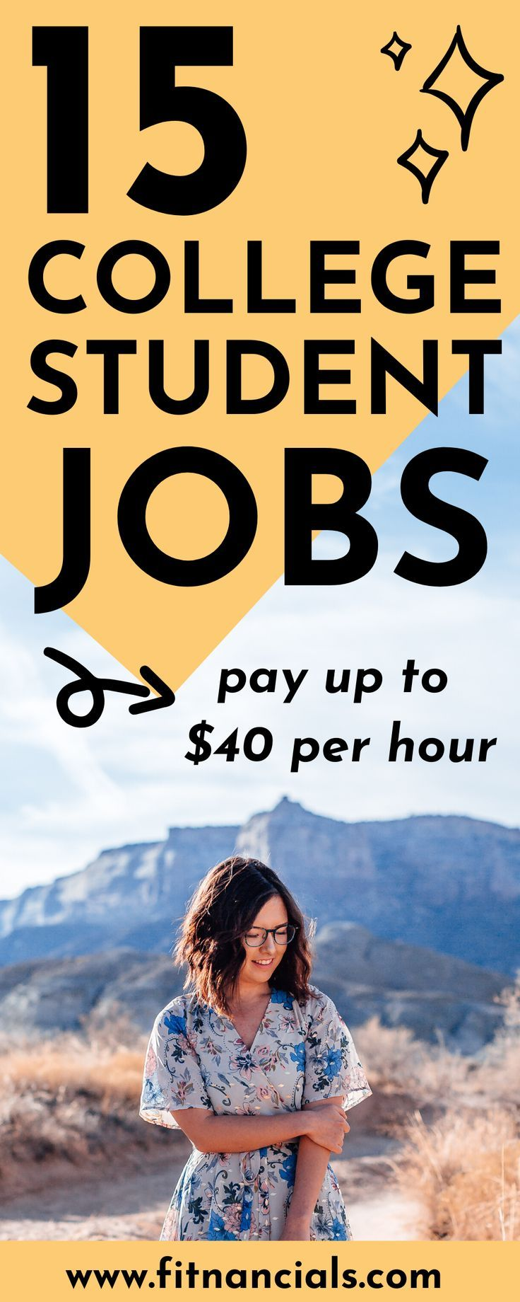 Want to make extra money in college? Check out this list of college student jobs that earn up to $40 per hour. #college #student #makemoney #money