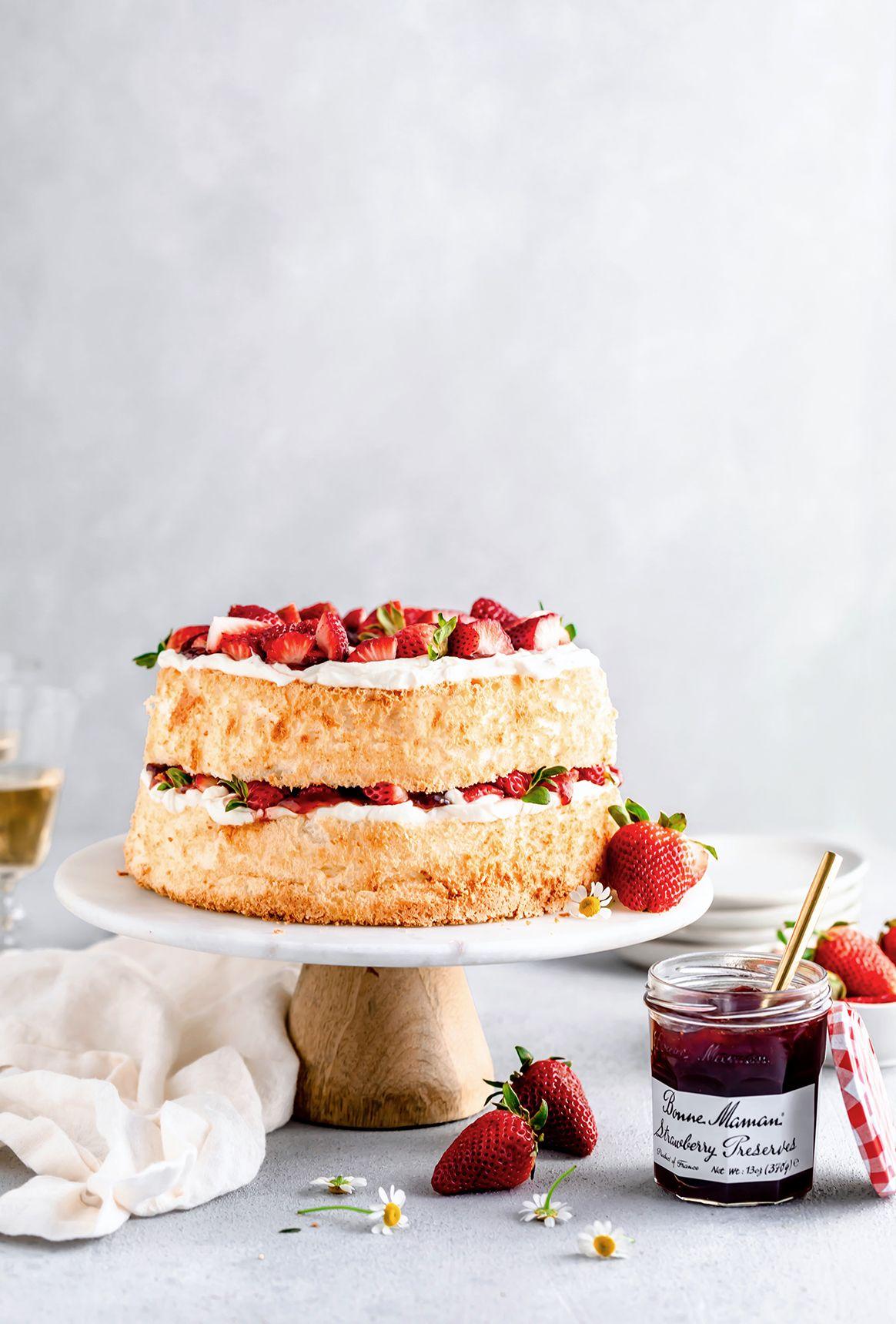 Angel Food Cake Recipe Cake Recipes Strawberry Angel Food Cake Angel Food
