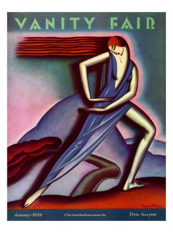 Vanity Fair Cover - January 1929 Giclee Print by Symeon Shimin at Art.com
