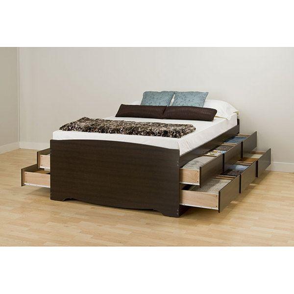 prepac tall drawers black yhst drawer bbq bed queen platform k storage