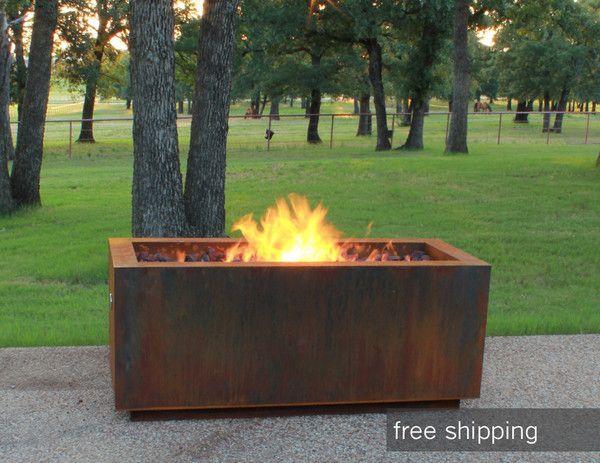 Adezz Corten Steel Fire Bowl In 2019 Steel Fire Pit Garden Fire Pit Large Fire Pit