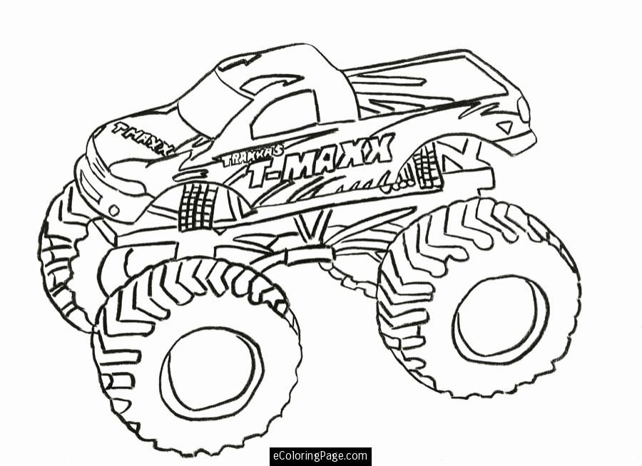 t maxx monster truck printable coloring