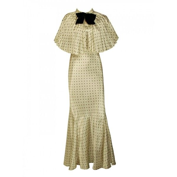 1930s Polka-Dot Dress and Capelet found on Polyvore