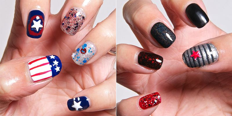 My Faning Took Over And I Did Some Captain America Winter Solr Themed Nail Art