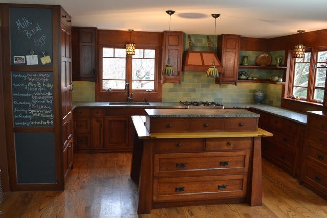 Quarter Sawn White Oak Throughout Craftsman Kitchen
