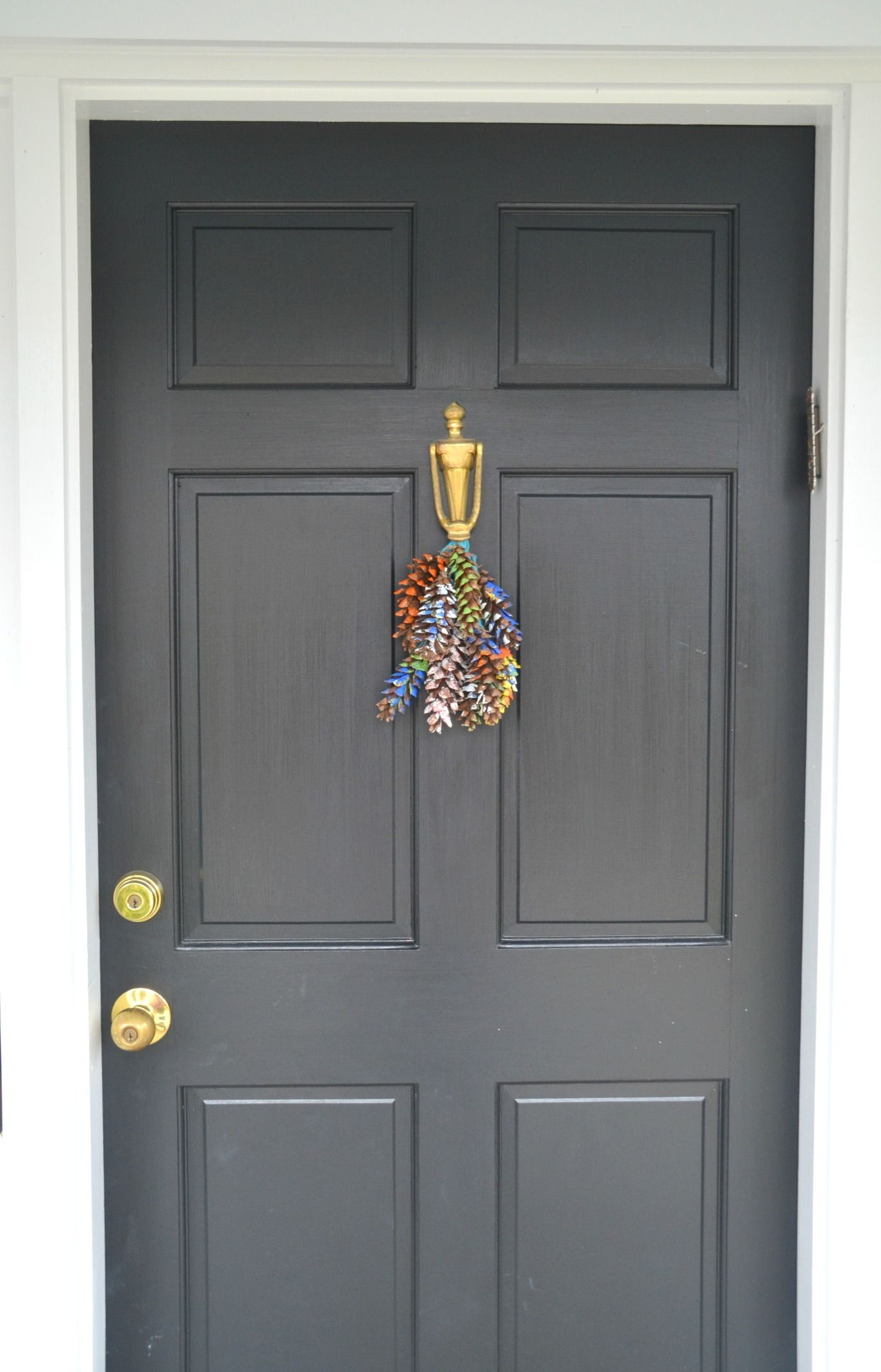 Gray Front Door A Little Darker Home Decorating Ideas