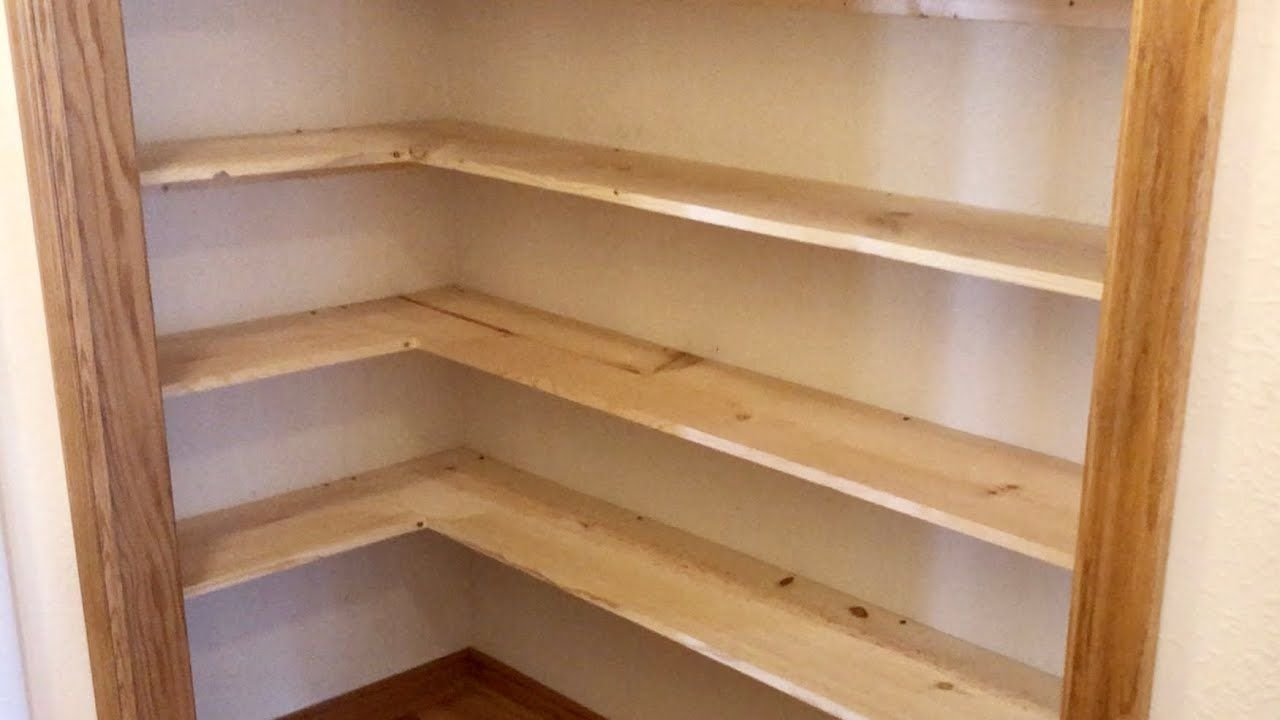Easy Pantry Shelving YouTube Pantry shelving