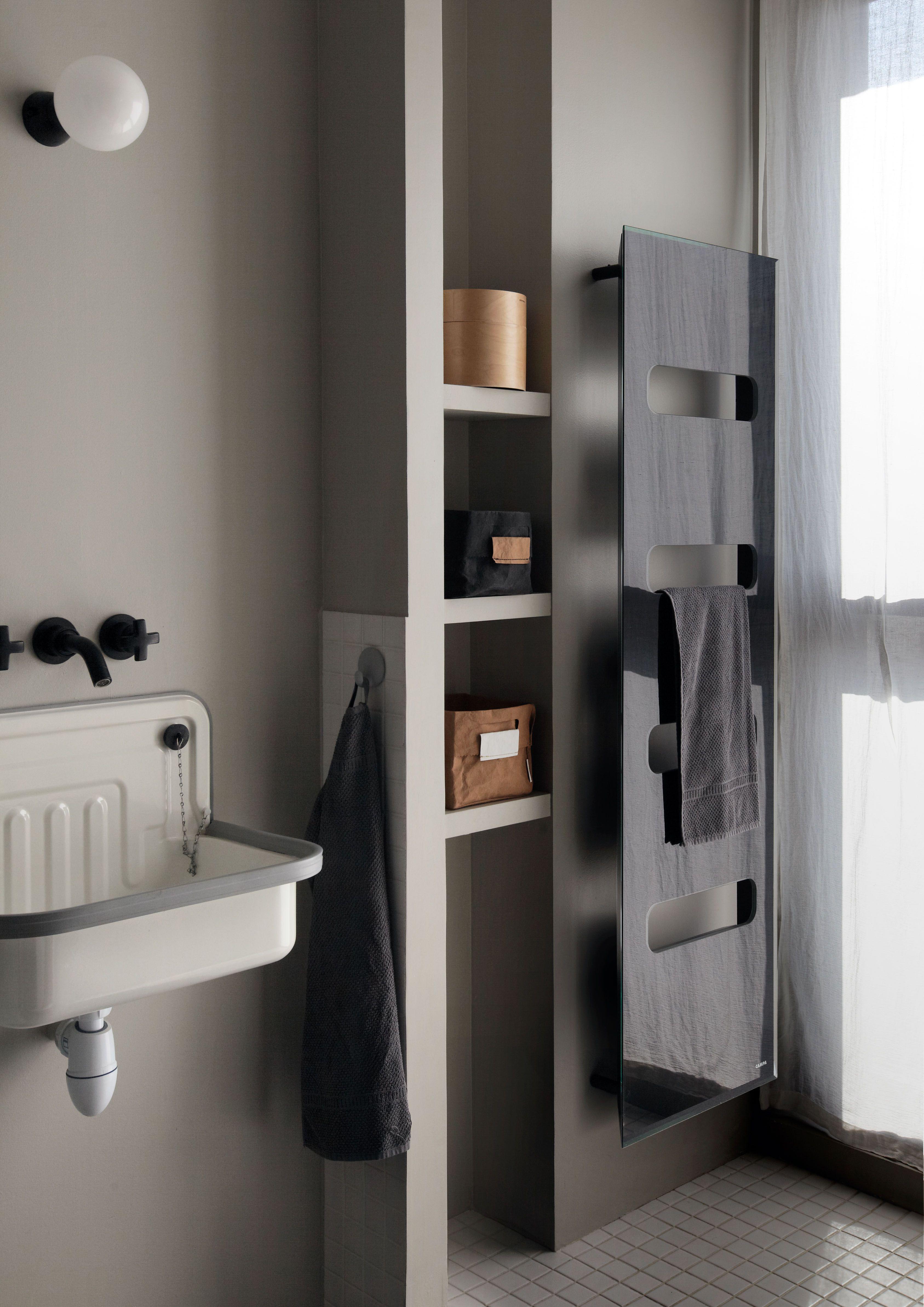 Campastyle elite radiateur s che serviettes en glace de - Puissance seche serviette salle de bain ...