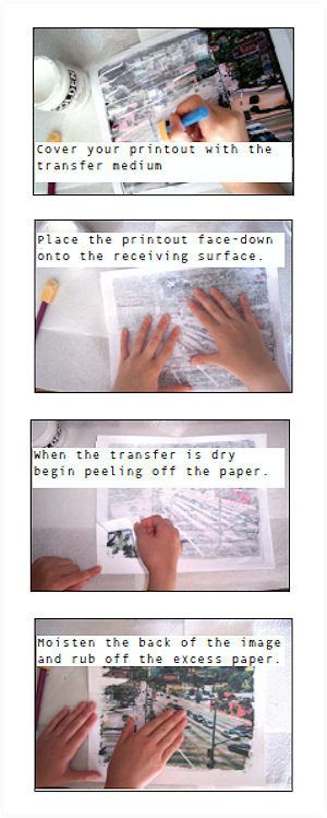 Basic inkjet transfer using mod podge – the details | More than Photography