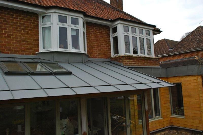 Zinc Roof With Cantilever Soffit Secret Gutter Fascia