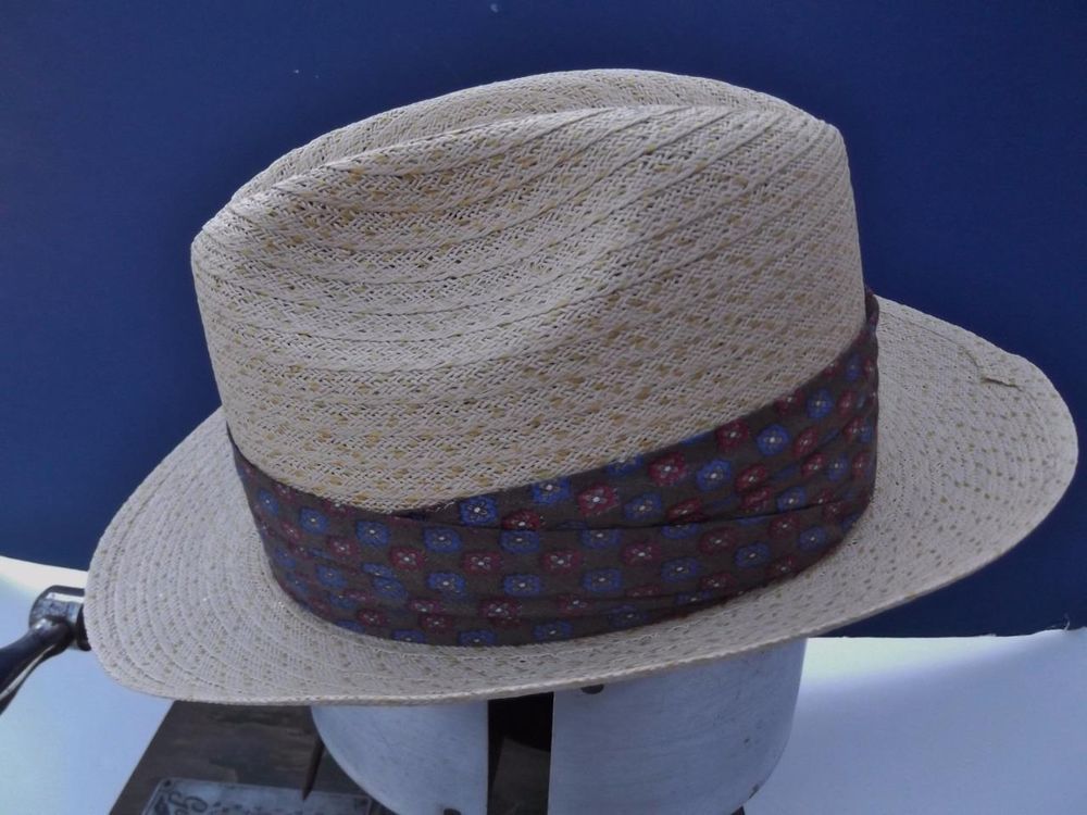 83e94416bbe Vintage 1960s Hat Straw Summer Weight Custom Made Bee Hats Lt Blonde Color  SZ 7  Straw