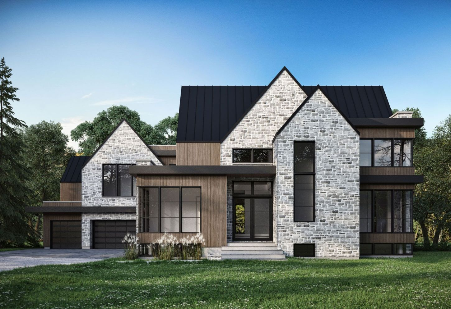 Modern Farmhouse Exterior Designs Displaying Classic Comfort in Today Style | SHAIROOM.COM #modernfarmhouseexterior