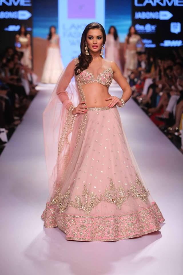 1fc7f03a24 Buy Bollywood Amy Jackson Light Pink Netted lehenga in USA,UK and ...