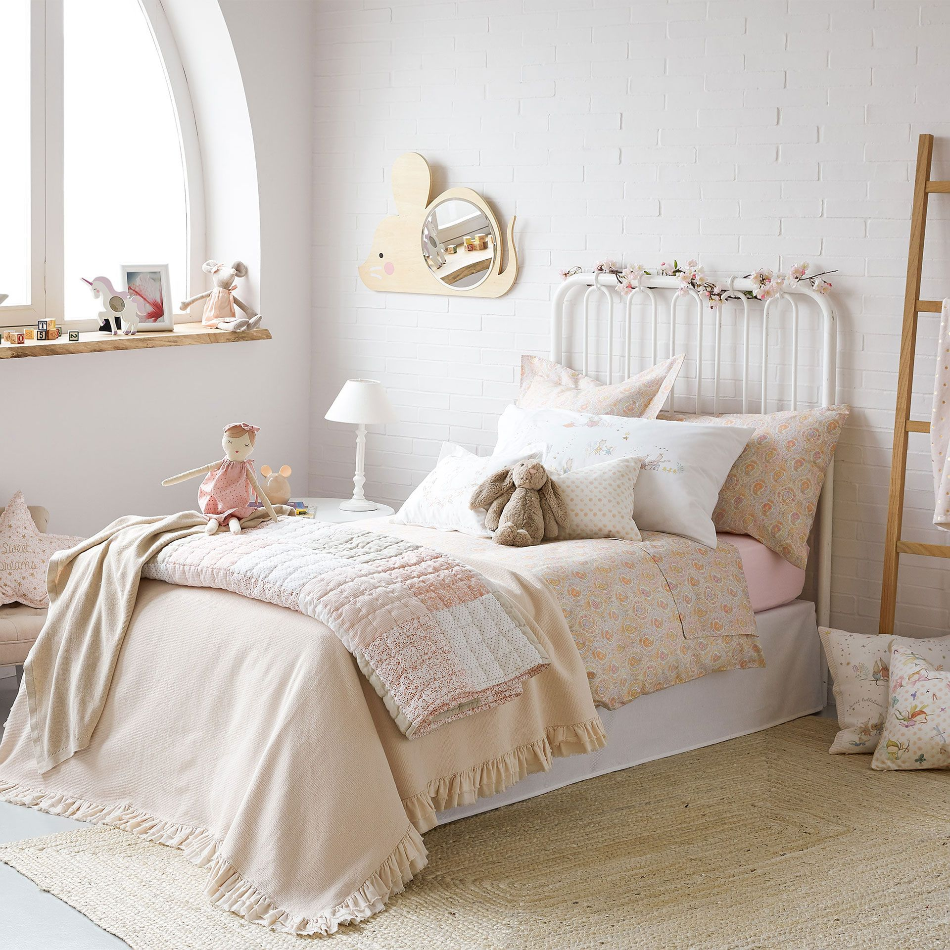 Bedspread designs texture - Textured Cotton Bedspread And Cushion Cover With Double Frill Bedspreads Bedroom Kids Collection